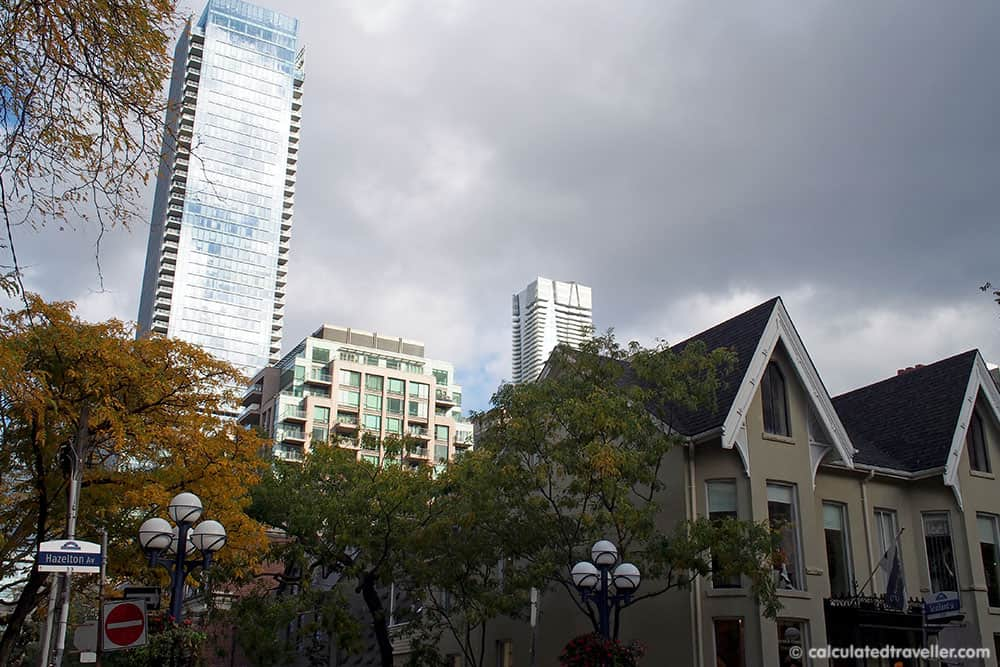 Exploring the Village of Yorkville Toronto. A Day of Food, Architecture and History.
