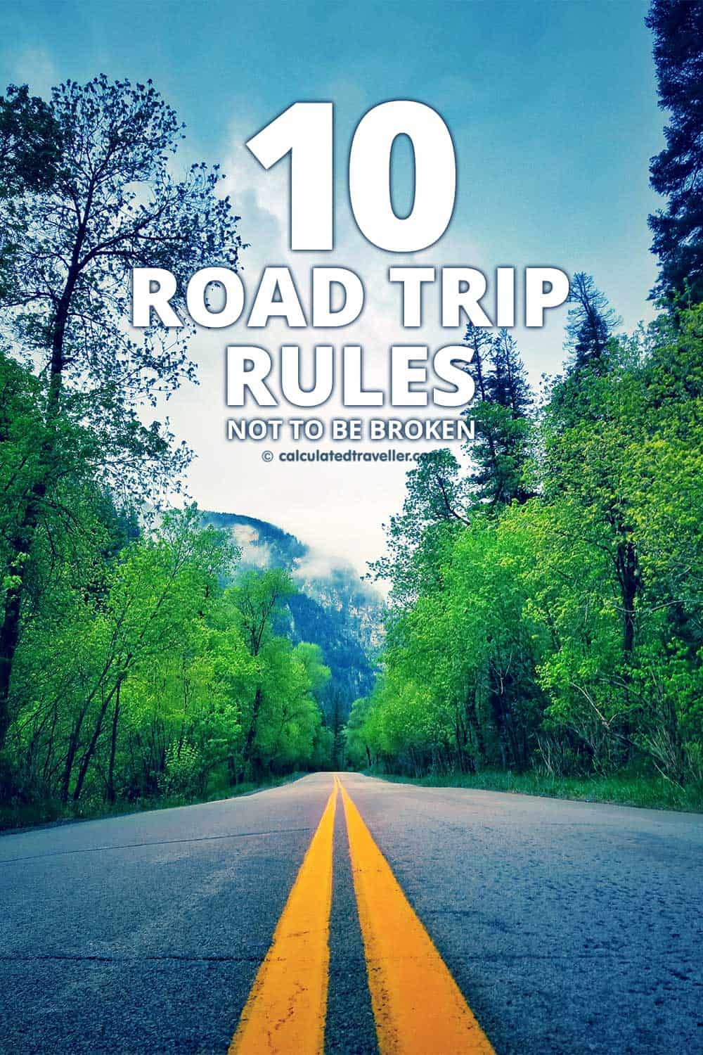 10 Road Trip Rules definitely not to be broken the next time you go on a driving adventure in your car! #travel #trip #tip #car #road #driving