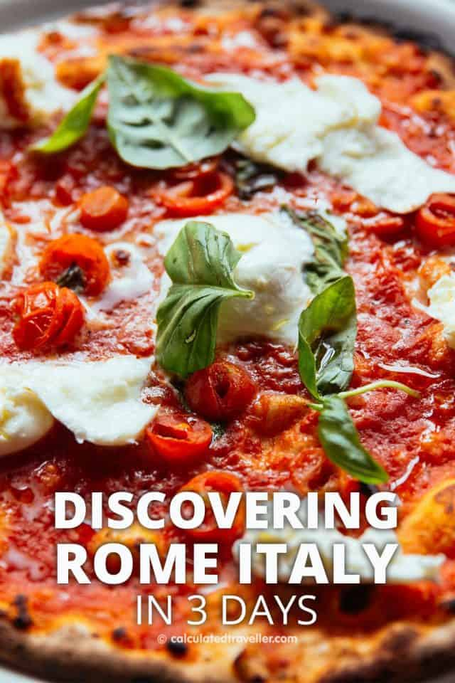 Discovering Rome Italy in 3 Days. What to see each day, what to eat, and what do at night. #Rome #Italy #travel #sights #food #traveldestination