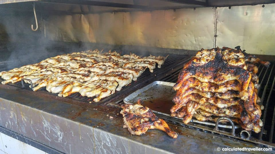 Playa del Carmen Restaurants on a Budget - Chicken cooking on the grill at Asadero el Pollo