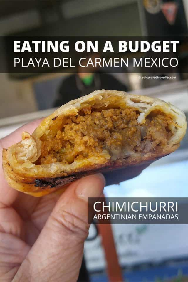 Playa del Carmen Restaurants on a Budget - Argentinian style empanadas from Chimichurri Pizzeria #PlayaDelCarmen #Mexico #food #budget #travel #empanada