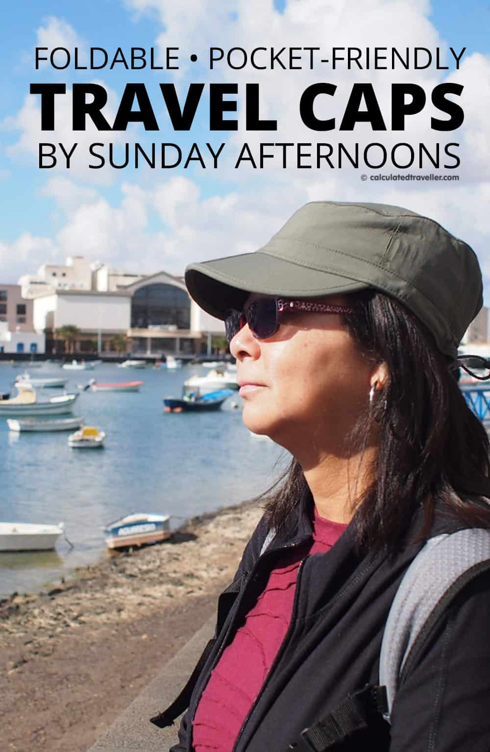 Pocket-friendly Sun Tripper Cap and Eclipse Cap by Sunday Afternoons. Foldable, Packable and Pocket-Friendly.
