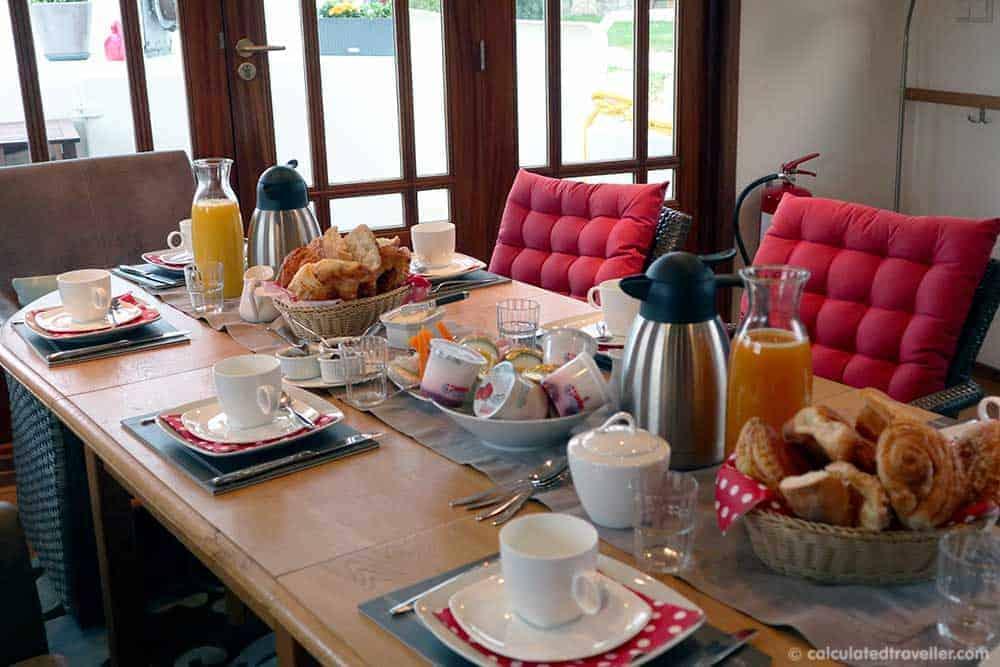 Breakfast is served onboard the Savoir Vivre Barge Cruise