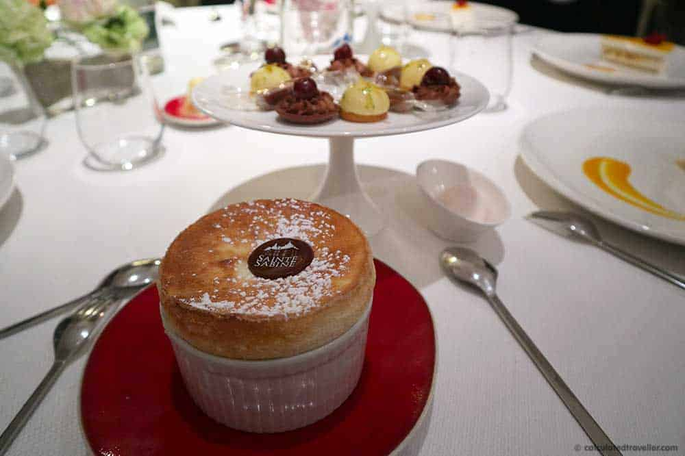 A decadent soufflé or other over the top dessert to end a fabulous meal each night