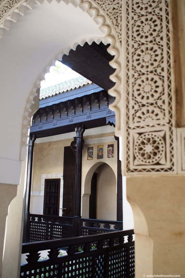 Moorish arch in the riad