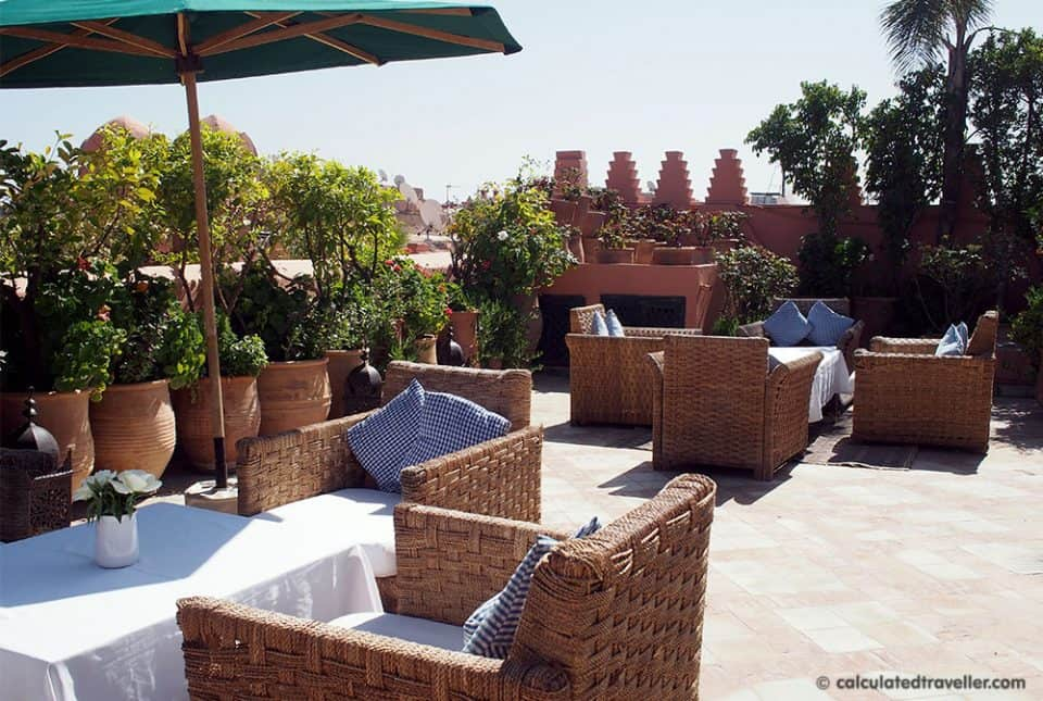 Riad Dar Les Cigognes roof top terrace