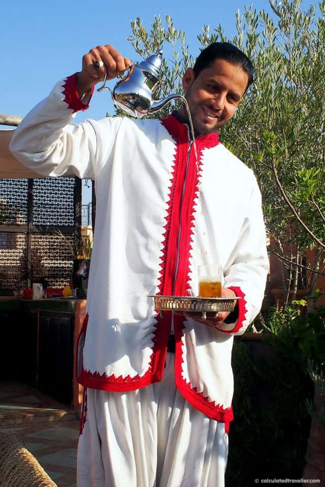 Moroccan tea being served