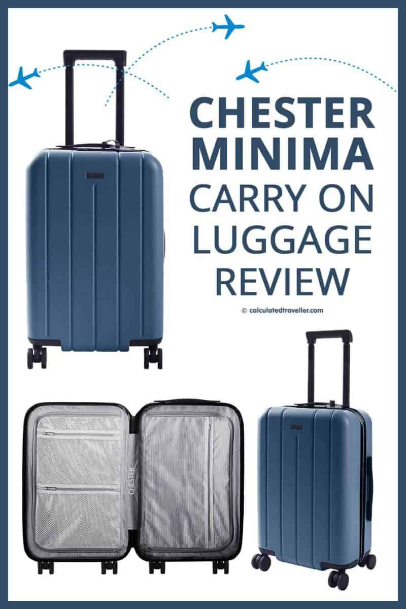 Calculated Traveller Chester Minima Carry On Spinner Suitcase