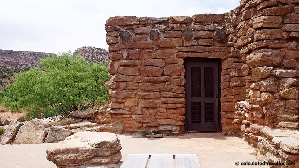 Stone cabins at Palo Duro Canyon