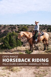 Horseback riding Palo Duro Canyon Amarillo Texas