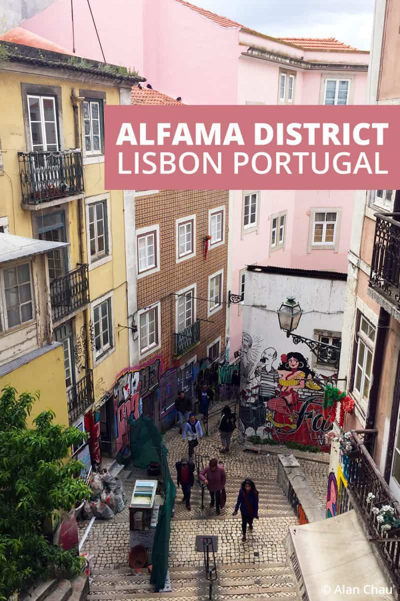 Alfama district Lisbon Portugal