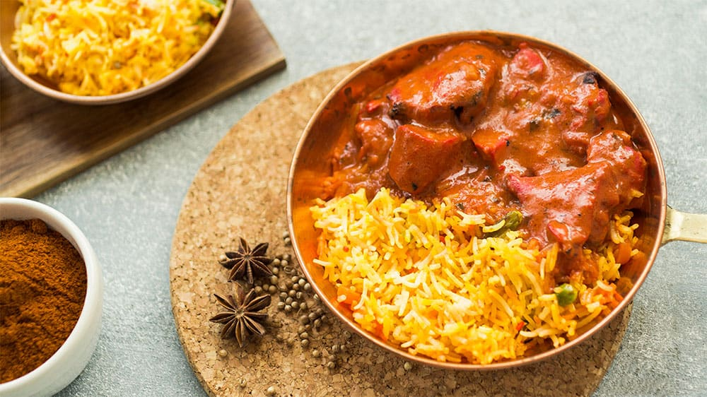International food Curry from India