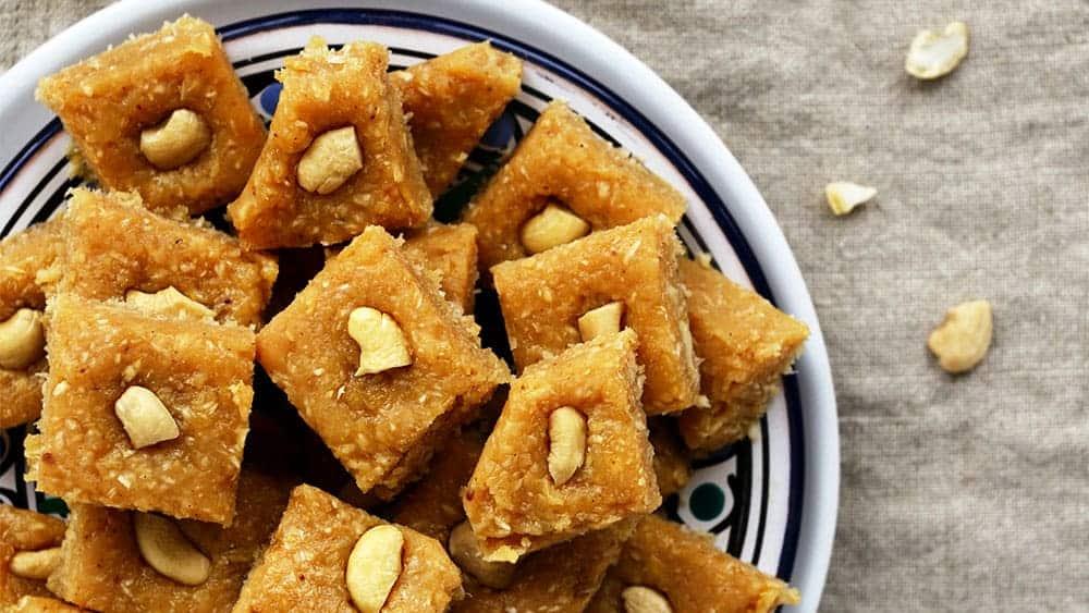 Burfi - a popular sweet Indian dessert