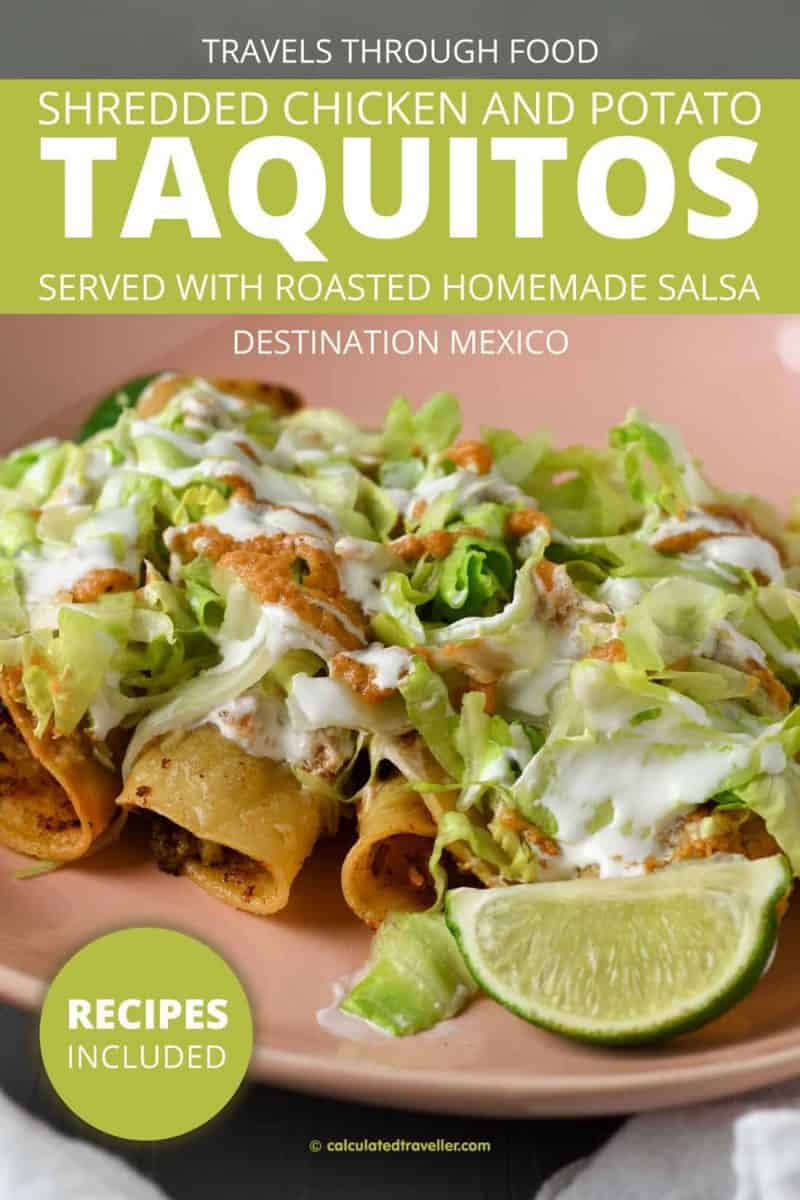 Cooking with Mexican Ingredients at Home – Shredded Chicken and Potato Taquitos