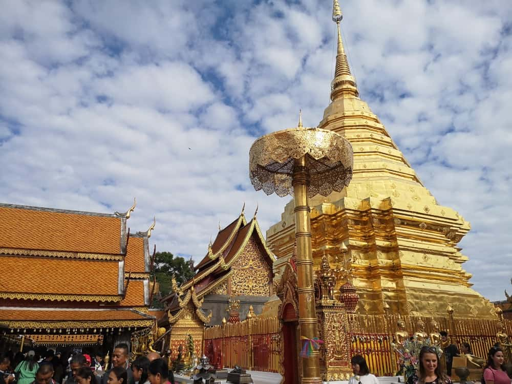 Doi Suthep Temple in Chiang Mai -  a must when on a 3 week tour of Thailand
