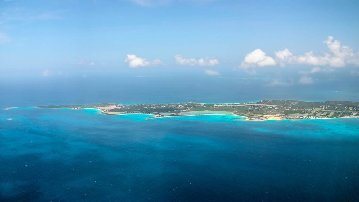 Anguilla aerial view