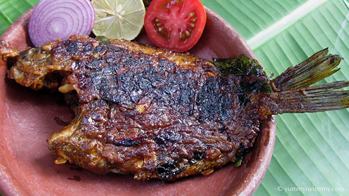 Karimeen pollichathu 印度喀拉拉邦最受歡迎的菜餚之一